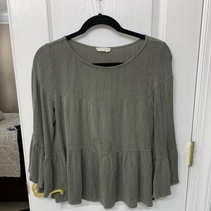 FREE w/ a purchase olive green top